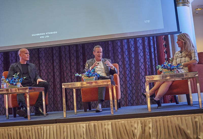 Patrick Waring and Stefan Breg on stage with Heleri Rande, consulting editor of Supper Magazine.