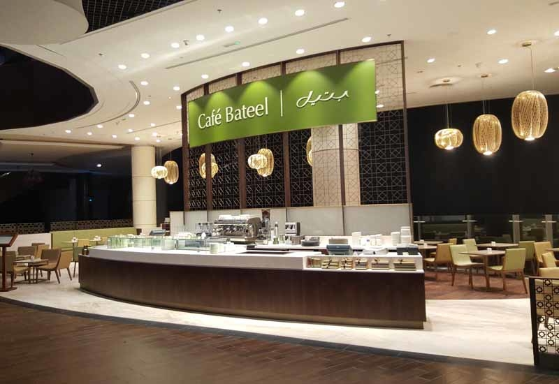 The newly refurbished outlet will be the second Cafe Bateel store to feature the new design concept