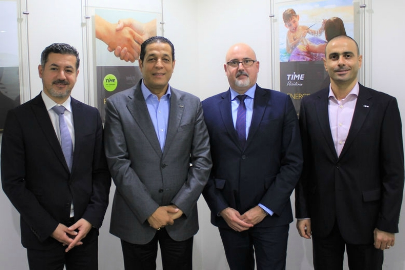 [Left to right] Magued Malek, business development director, Xn protel Systems; Mohamed Awadalla, chief executive officer, Time Hotels; Emmanuel Clavé, VP GCC & India, Xn protel Systems; Joseph Fayad, corporate director IT, Time Hotels.