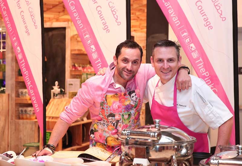 PHOTOS: Pink shawarmas raise funds for charity