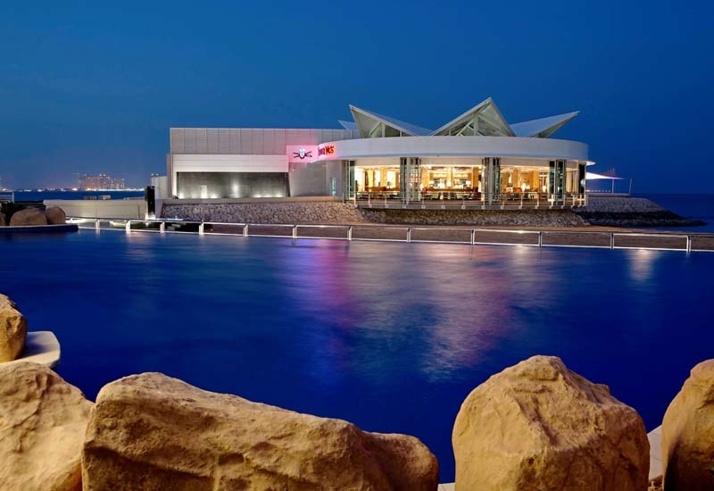 The exterior of the Trader Vic's Doha.