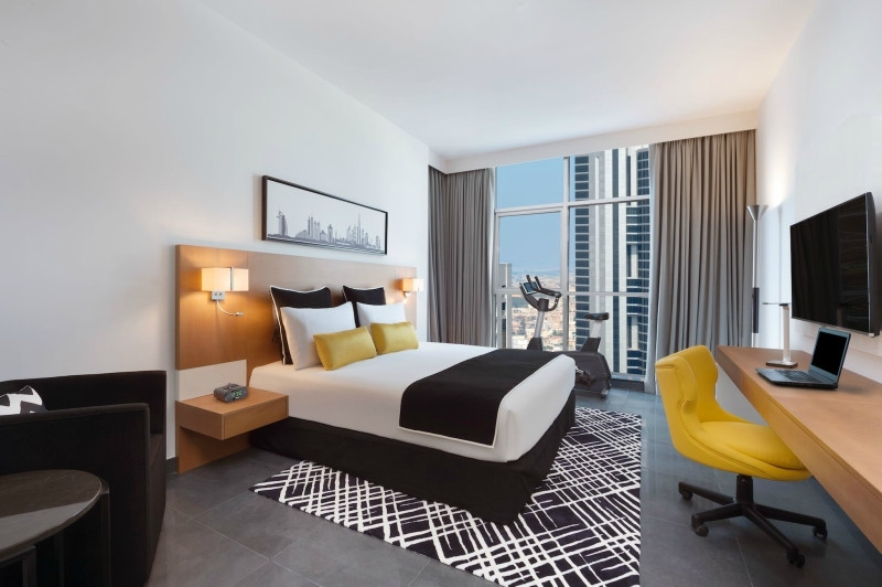 Tryp by Wyndham Dubai's fitness guestroom.