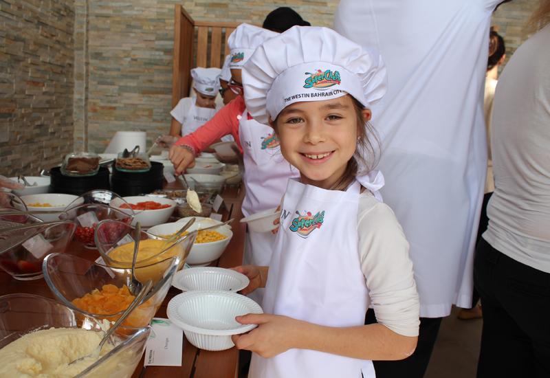 One of the Westin Bahrain mini-chefs.