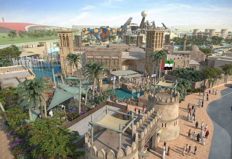 The new Warner Bros. World park will be located next to Yas Waterworld on Yas Island.