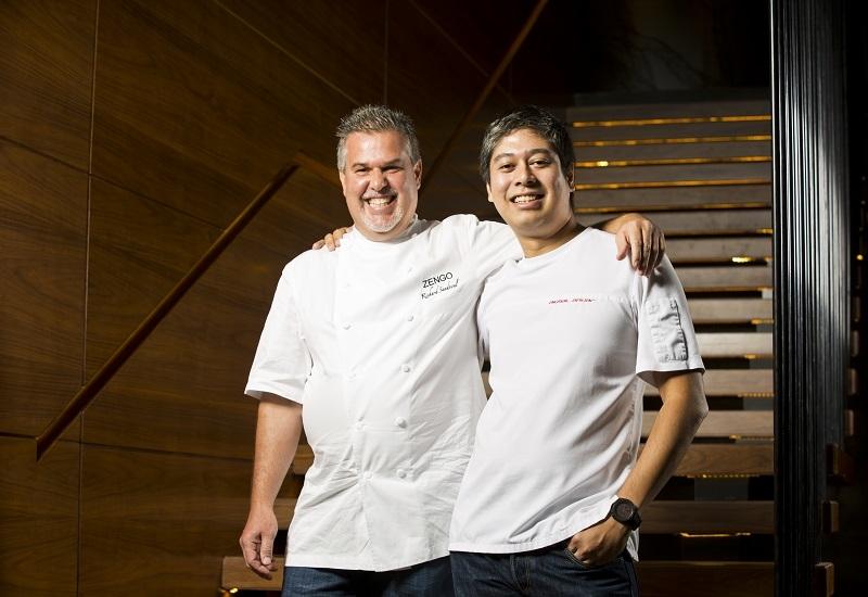 Chef Richard Sandoval and chef Akmal Anuar of Zengo