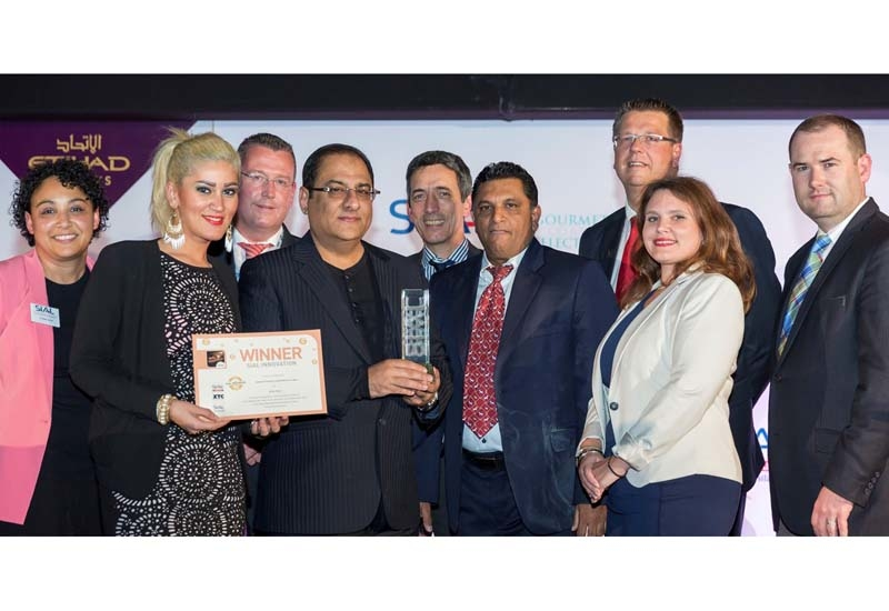 Al Ain Dairy Company COO Shashi Kumar Menon and members of the team were presented with the accolade by SIAL Middle East and Etihad Airways representatives