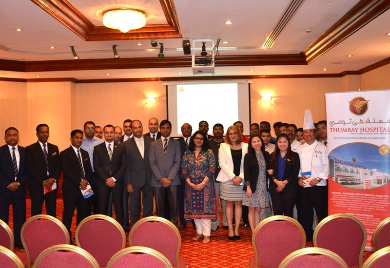 The workshop was held in partnership with Thumbay Hospital.