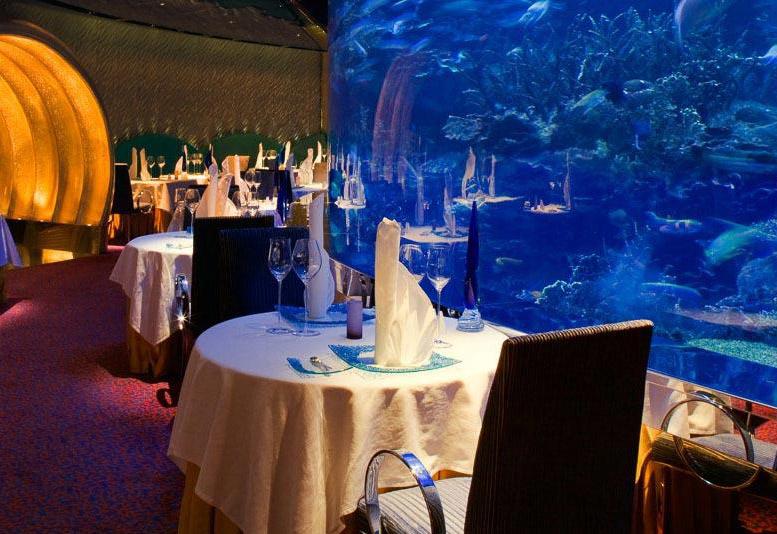 Burj Al Arab's famous seafood restaurant Al Mahara