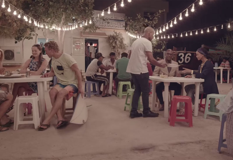 The campaign contrasts modern and traditional Dubai [Image: screenshot from campaign video]
