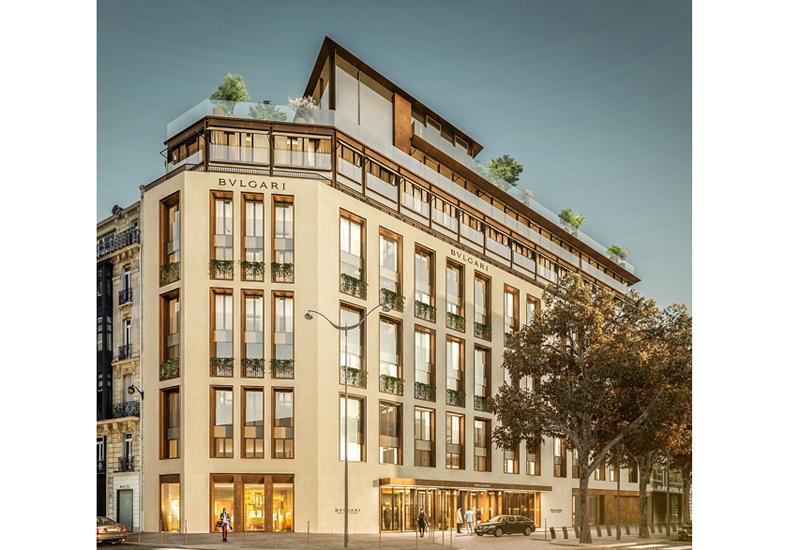 Bulgari Hotel Paris render.