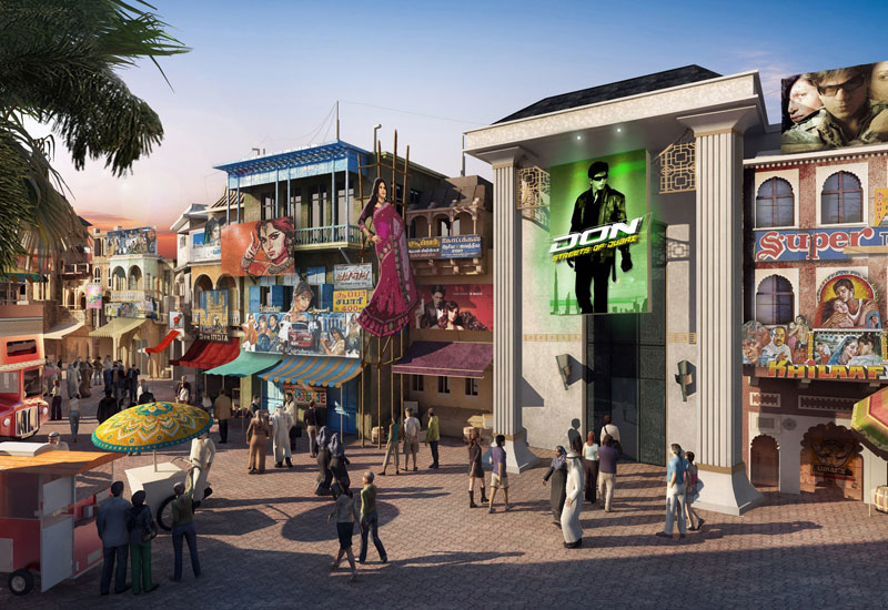 A rendering of Bollywood Parks Dubai