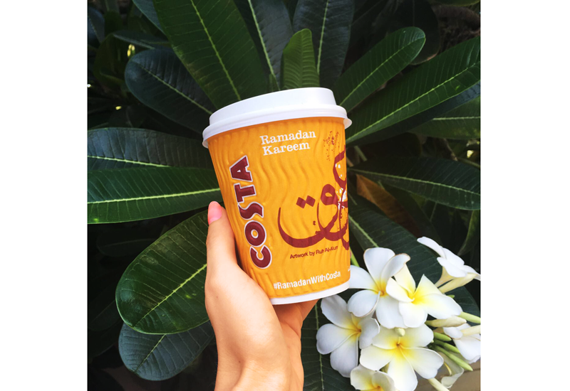 Costa Coffee is supporting the 'Happiness Is Giving' campaign.