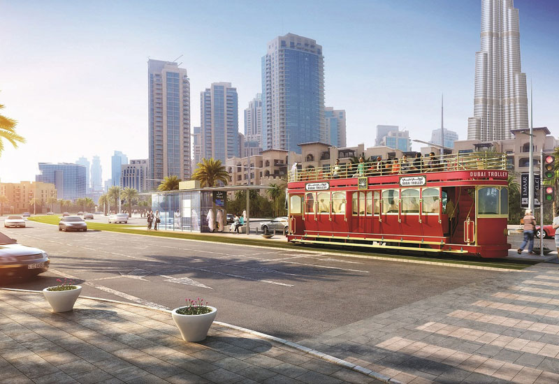 A rendering of how Dubai Trolley will look