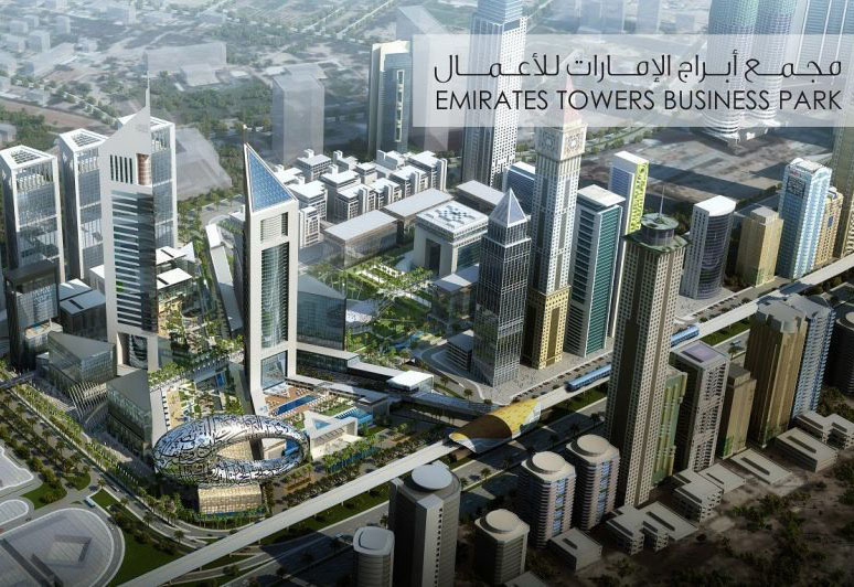 A render of the upcoming Emirates Towers Business Park.