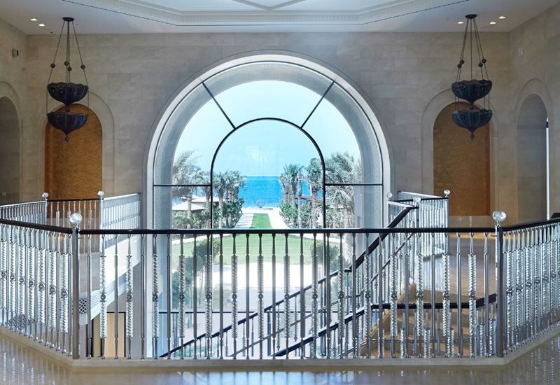 The hotel's 'Kodak moment'. On entering the main doors, guests have views through an arched window to the private beach.