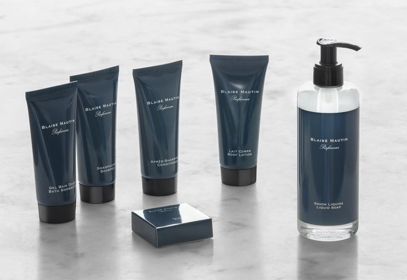 Groupe GM partners with Blaise Mautin to launch new amenity line.