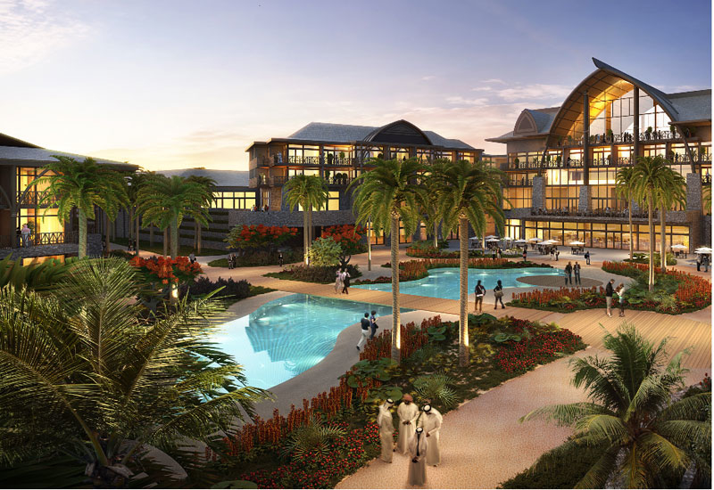 A rendering of Lapita Hotel, which will be operated by Marriott International