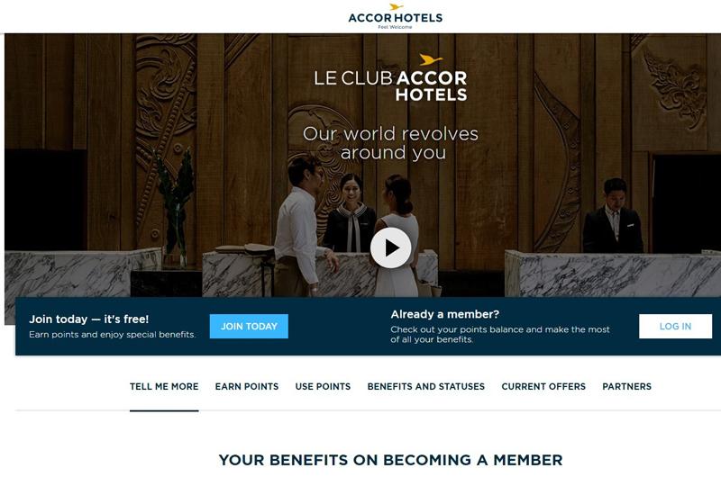 Operators, Accorhotels, Loyalty programme, Le Club AccorHotels