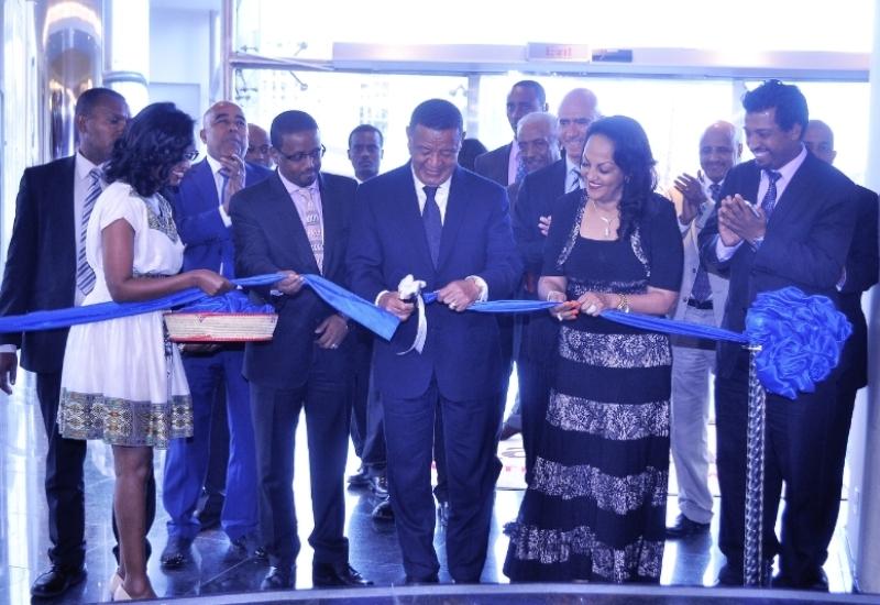 Marriott Executive Apartments Addis opens with President Mulatu Teshome cutting the ribbon (PRNewsFoto/Marriott International, Inc.)