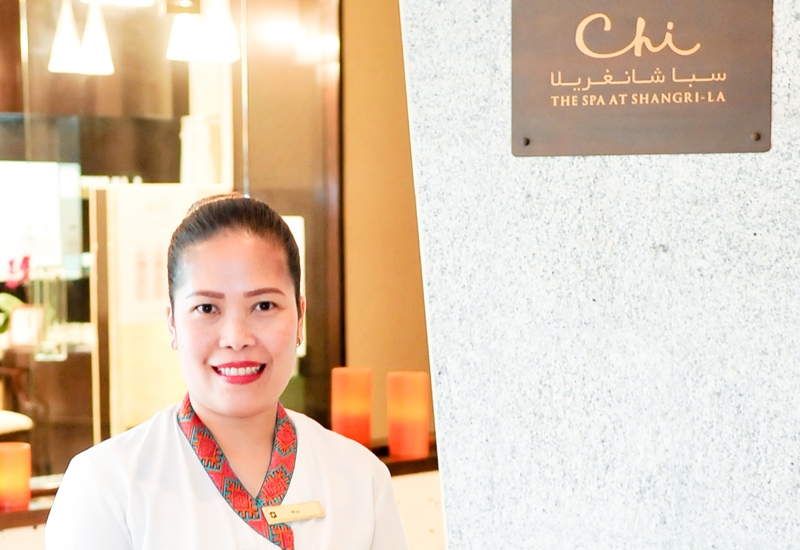 May Bona, spa therapist, Shangri-La Hotel Dubai:   In 2018, May Bona was promoted to spa departmental trainer along with continuing her therapist duties. In October 2017, the Shangri-La corporate spa team decided to change their product offering at most of the CHI, The Spa locations across the globe. The implementation of these new products took an immense amount of training from the corporate team, product companies and local teams to ensure a seamless guest experience. Bona was selected as the Dubai team member to train the rest of the staff, learning all of the new products and techniques then sharing these new procedures with the rest of the staff. Bona also invests time in going above and beyond for the guests. Following a facial treatment, one of the guests loved one of the products used during the treatment and requested to purchase it for retail. Unfortunately, the spa was out of stock for that product at the time. It would have taken around five to seven days to re-order the product from the supplier, however, as the guest was leaving Dubai in 24 hours, Bona took it upon herself to get in touch with the supplier to request the product and went to their distribution office after her working hours to get this product. She was able to deliver it to the guest.
