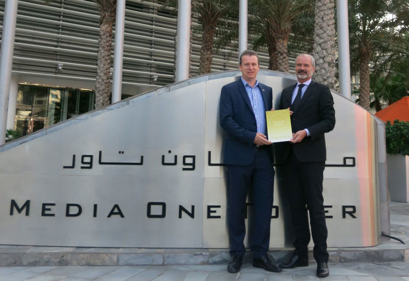 Media One Hotel GM Mark Lee and Safehotels Alliance AB CEO Hans Kanole