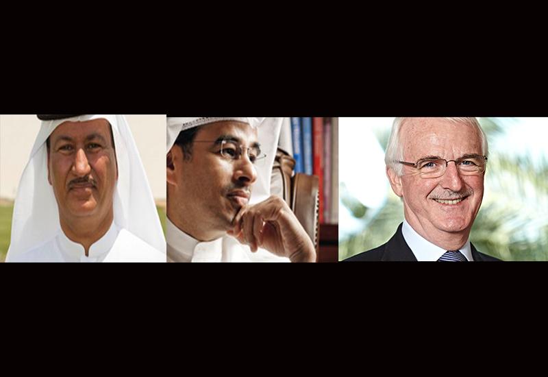 Hussain Sajwani, Mohamed Alabbar and Gerald Lawless.