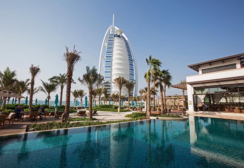 View of the Burj Al Arab from Jumeirah Al Naseem.
