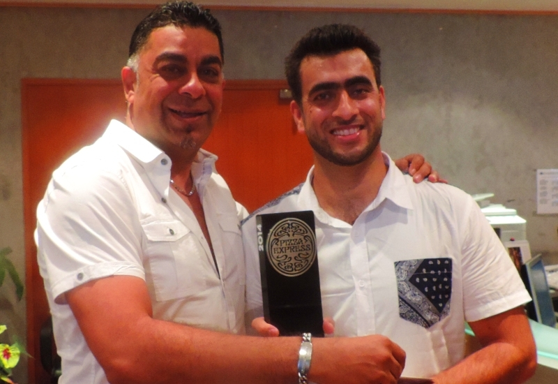(L-R) Anand Radia and chef Khan.