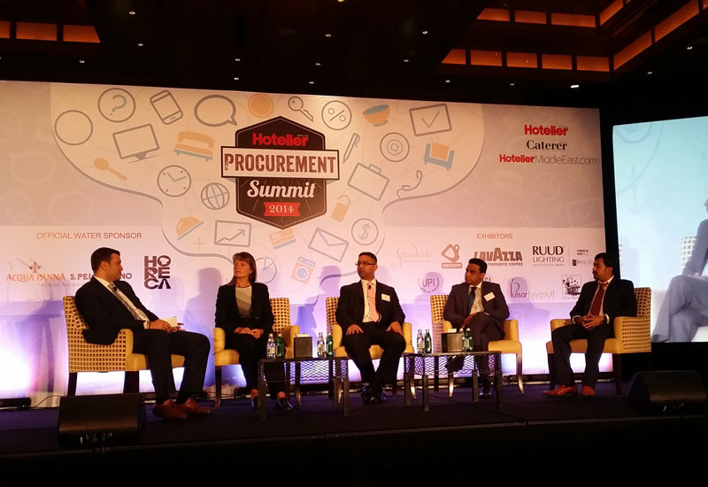 The first panel session of the day at the Hotelier Middle East Procurement Summit