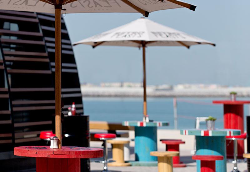 Retro Feasts in Dubai has a beachfront location in partnership with Meraas.
