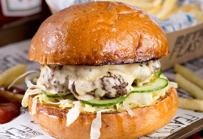 The Retro Beef Burger, which is set to be a favourite from the menu.