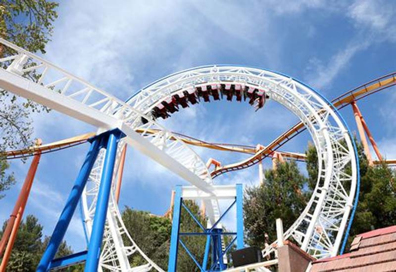 Six Flags Magic Mountain on March 25, 2016 in Valencia, California. (Getty Images)