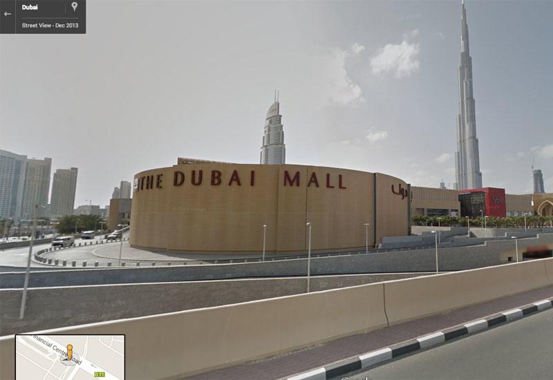 Dubai Mall and Burj Khalifa on Google Street View