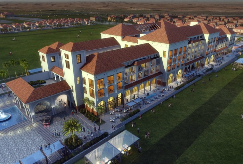 A rendering of The St. Regis Dubai, Al Habtoor Polo Resort & Club