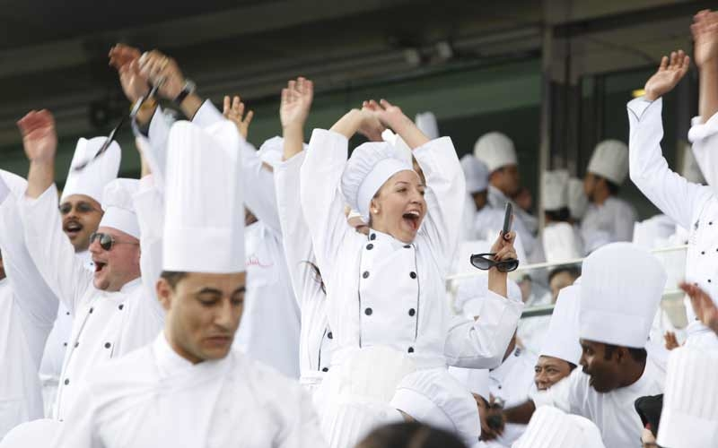 Over 2800 chefs in uniform attended the event.