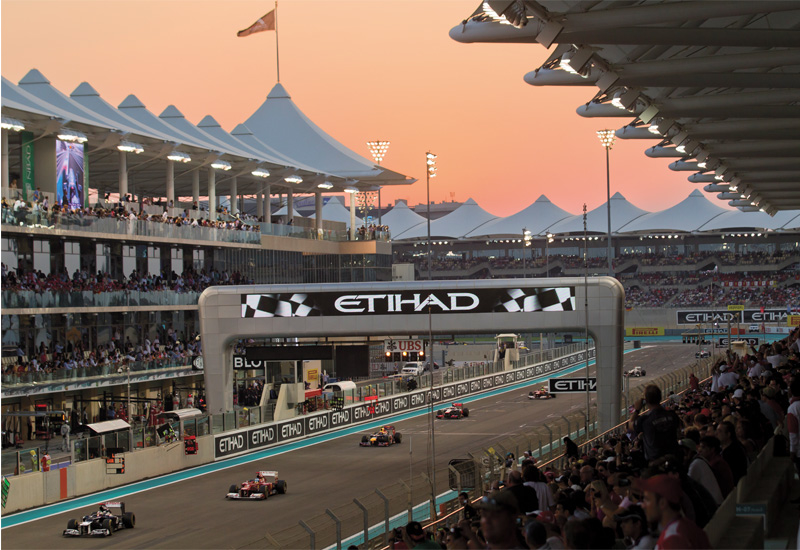 The Abu Dhabi F1 race held at the Yas Marina circuit is one of the highlights of the city's events calendar.