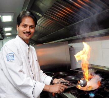Indian chef Abhijit Saha.