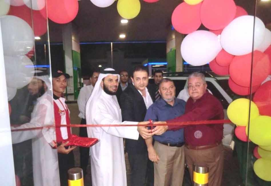 Saleh Lootah, chairman, Al Farooj; Mustafa Al Amin, UAE Director Al Amin Holdings; Reda Diab, GM of Al Farooj; and Mohammed Shakankiri, head of franch