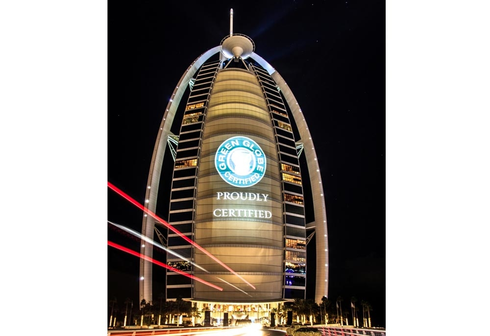 Dubai's Burj Al Arab received the Gleen Globe certification after being audited by Farnek.
