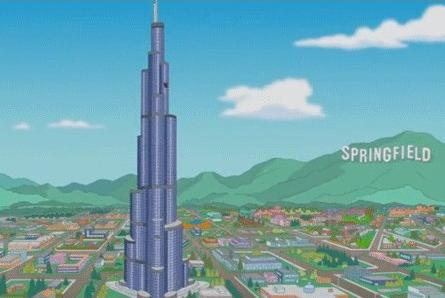 Travel, Burj khalifa, Simpsons, Television