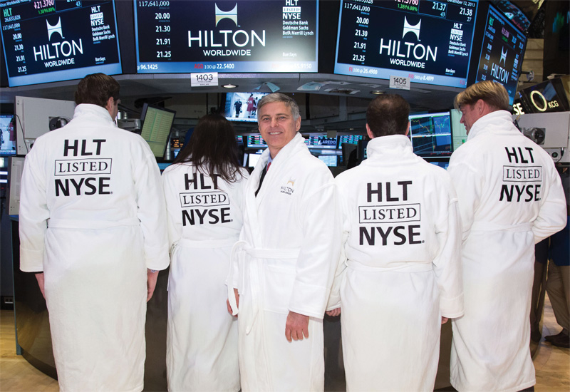 Chris Nassetta at Hilton Worldwide's IPO to the New York Stock Exchange in December 2013.