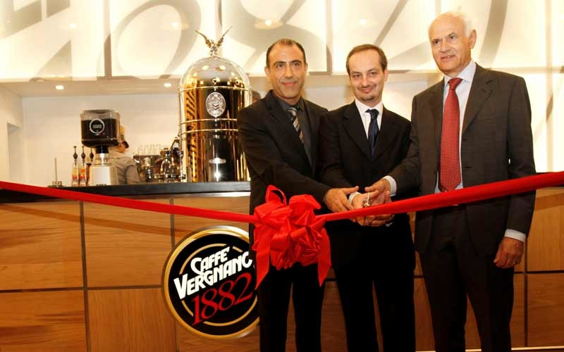 Caffe Vergnano was opened by special guest, chairman Carlo Vergnano (right).