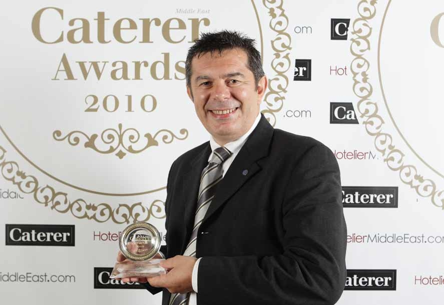 Caterer Middle East Chef of the Year Christophe Prudhomme.