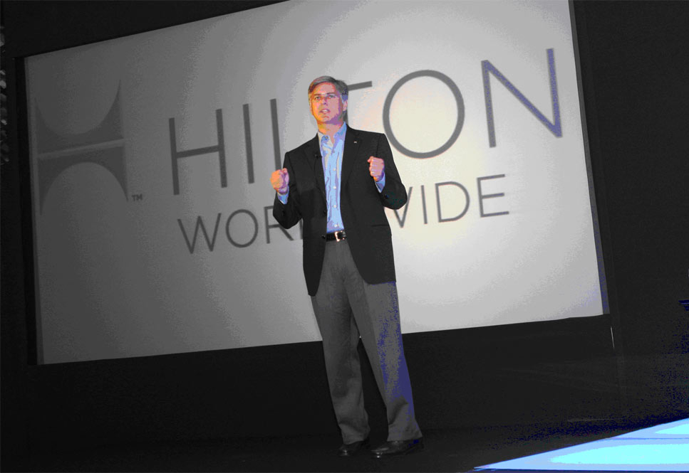 Christopher J. Nassetta, president and CEO of Hilton Worldwide and his senior leadership team flew into Abu Dhabi to present a series of business upda