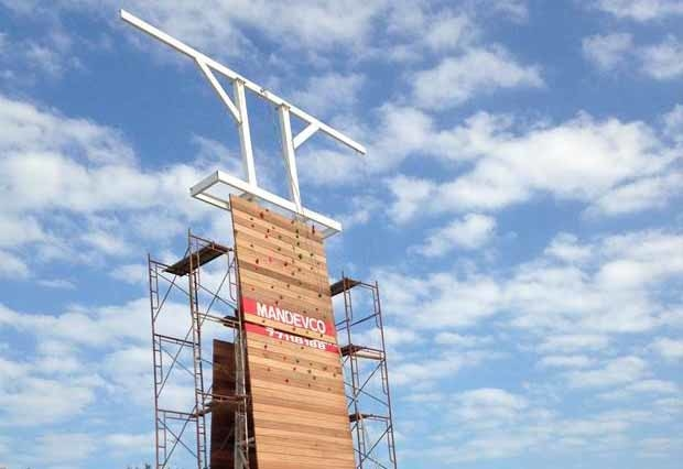 The new climbing wall at Moevenpick Hotel Bahrain