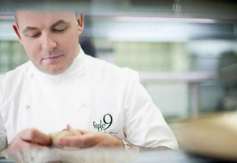 Darren Velvick has taken the helm of table 9 as the restaurant's new chef patron.