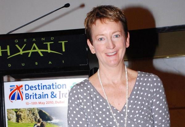 Sandie Dawe, CEO Visit Britain is at the event this week in Dubai