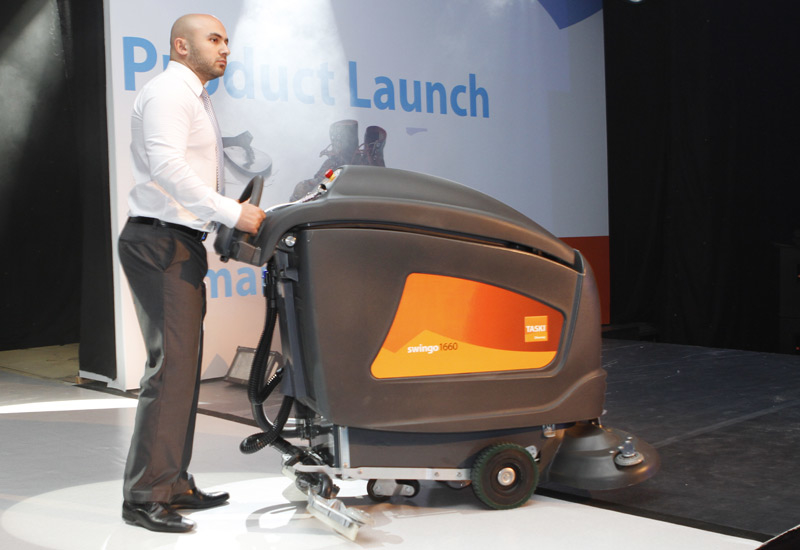 The 85-litre TASKI Swingo 1660 in action at the launch