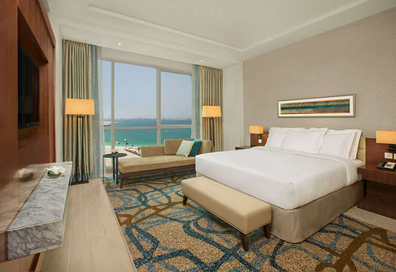 A bedroom at the new Doubletree by Hilton Dubai - Jumeirah Beach