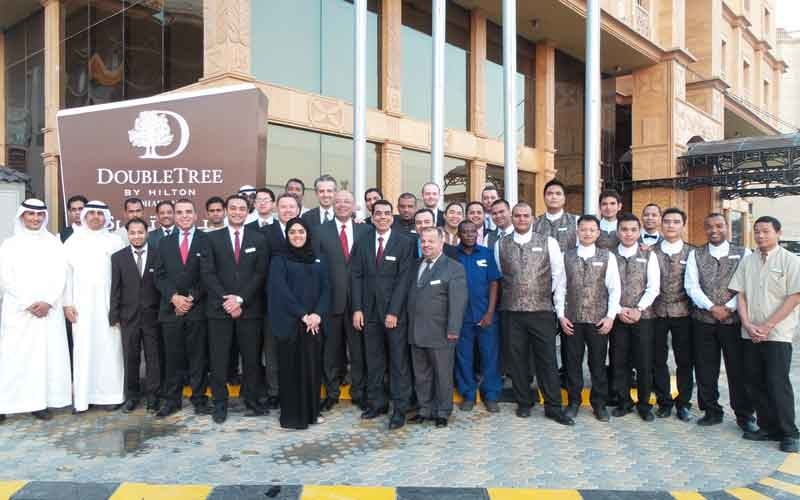 The team at the new DoubleTree by Hilton Dhahran.